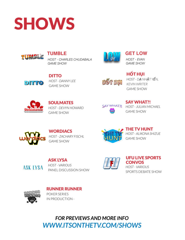 %streaming tv network %game shows